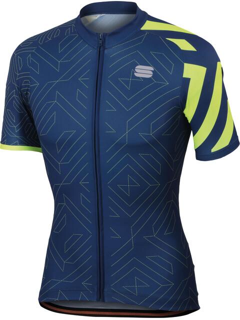 Sportful Graphic 1 Trendy Jersey Men twilight/blue/yellow fluo